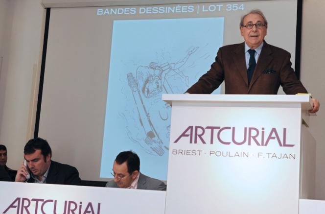 Une planche de l'album « On a marché sur la lune » a été adjugée au prix record de1,55million d'euros lors d'une vente aux enchères chez Artcurial, à Paris.
