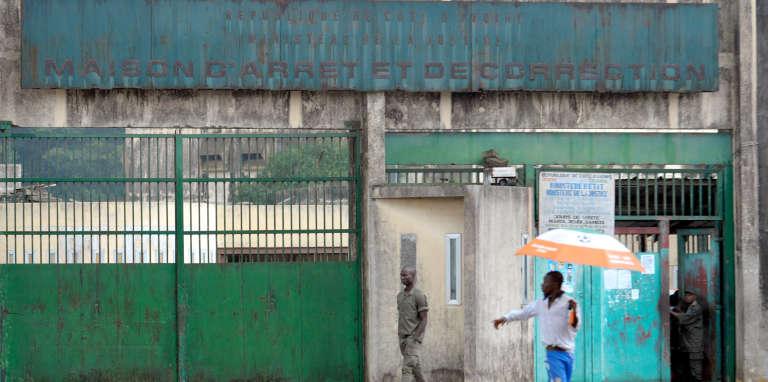 L'entrée de la Maison d'arrêt et de correction d'Abidjan.