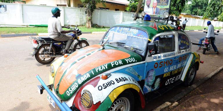 Dans une rue de Benin City, en 2012.