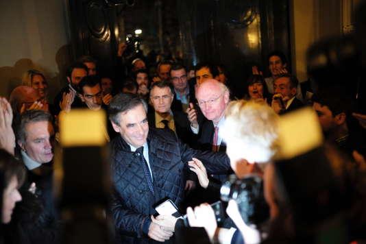 François Fillon, au soir du premier tour de la primaire de la droite, à Paris, le 20 novembre.