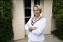 Ariane de Rothschild, chez elle au Château Clarke, classé grand cru, à Listrac dans le Médoc.