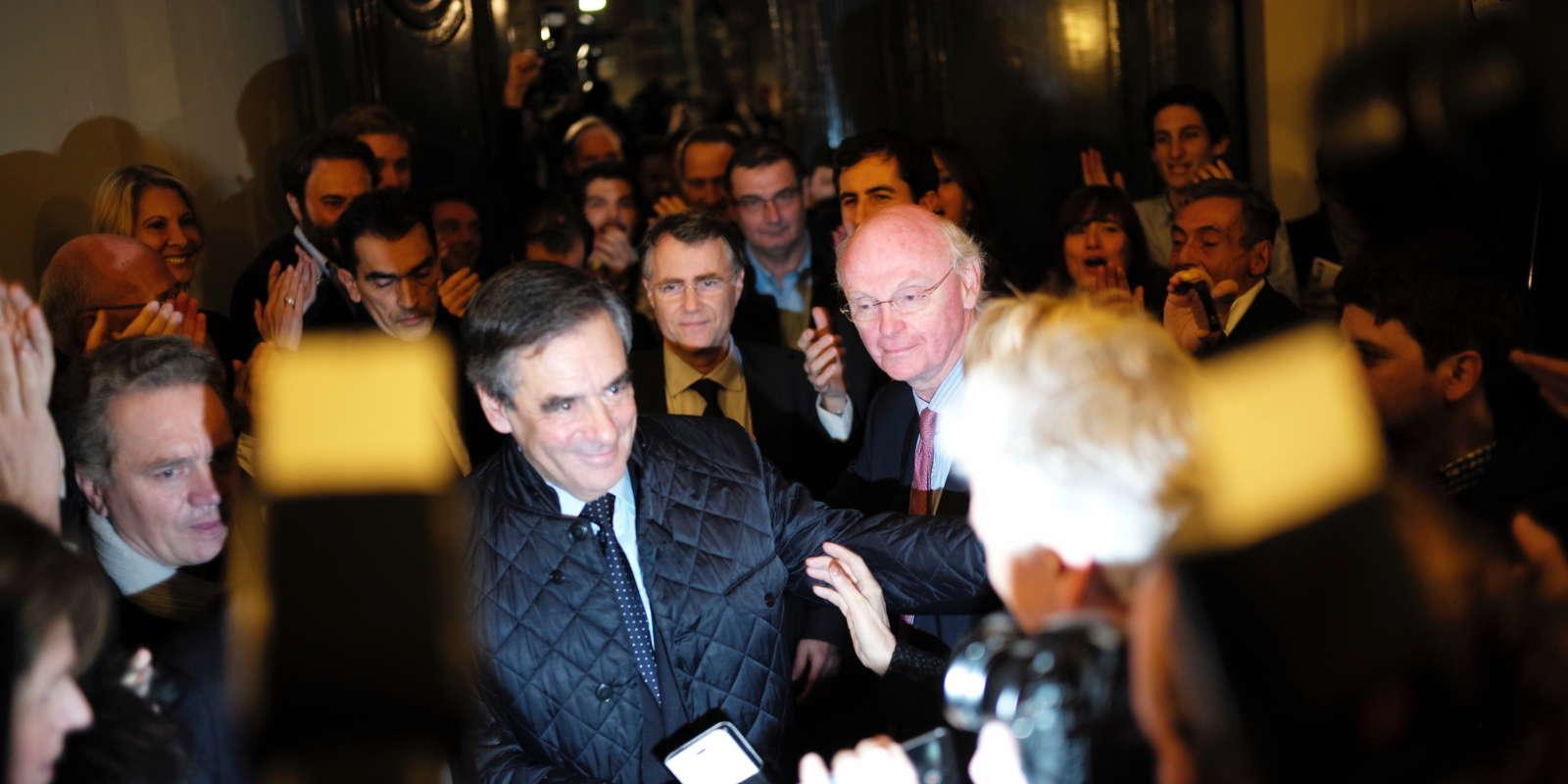 François Fillon à son arrivée à son QG, le 20 novembre.