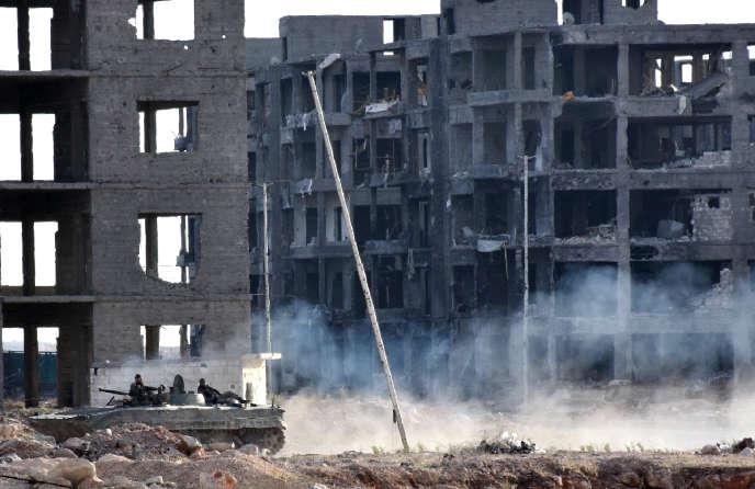Dans Alep-est, le 8 novembre.