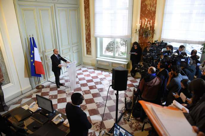 Conférence de presse de Bernard Cazeneuve, lundi 21 novembre à Paris.