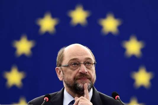 Le président du Parlement européen, Martin Schulz, le 21 novembre 2016 àStrasbourg.