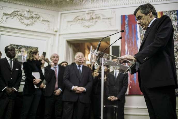 François Fillon, à Paris, le 20 novembre.