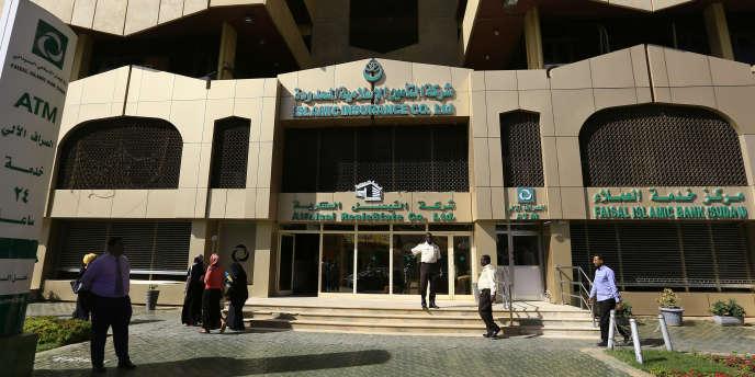 La banque islamique Faisal, à Khartoum, au Soudan, en janvier 2016.