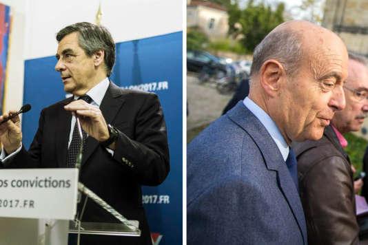 François Fillon et Alain Juppé le 20 novembre, jour du premier tour de la primaire de la droite