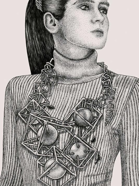 Une médaille du mérite? Un mobile de Calder? Non, un collier arty qui fait mal au cou.