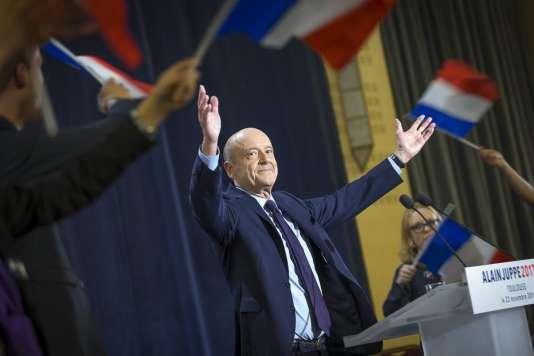 Alain Juppé en meeting à Toulouse, mardi 22 novembre.