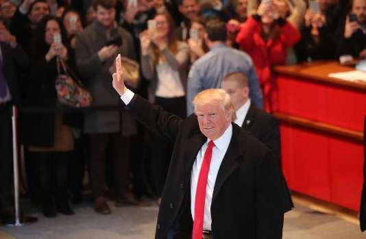 Donald Trump lors de son départ de la rédaction du «New York Times», le 22 novembre.