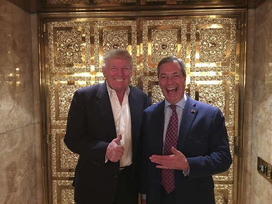 Donald Trump et Nigel Farage, le 12 novembre à la Trump Tower.
