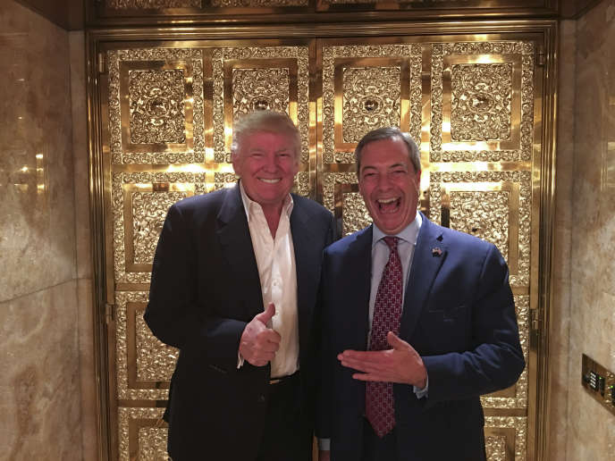 Donald Trump et Nigel Farage, le 12 novembre 2016, à New York.