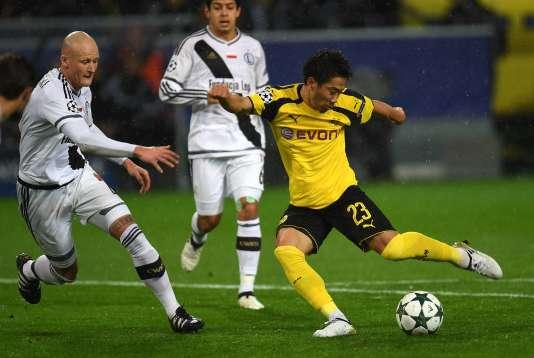 Le milieu de terrain de Dortmund, Shinji Kagawa, a brillé lors du match face au Legia Varsovie, mardi 22 novembre.