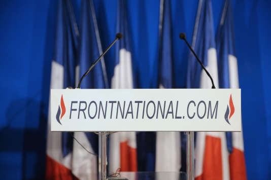 Au siège du Front national, en novembre 2011, à Nanterre.