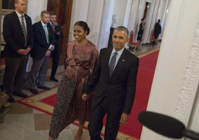 Michelle et Barack Obama lors d'une cérémonie à la Maison Blanche, le 22 novembre.
