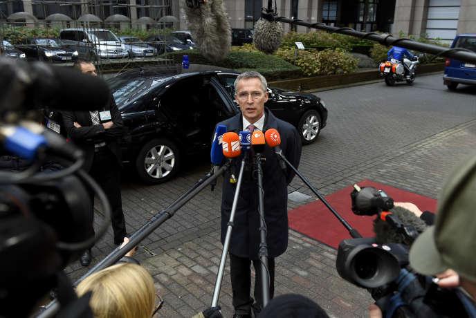 Le secrétaire général de l'OTAN, Jens Stoltenberg, à Bruxelles, le 15 novembre 2016.