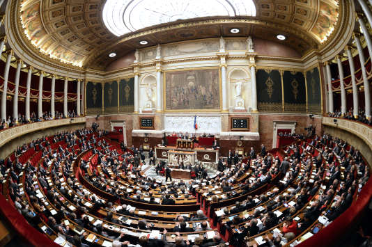 L'Assemblée nationale, à Paris.
