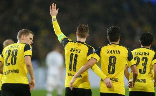 Marco Reus a inscrit un triplé pour Dortmund lors de la victoire face au Legia Varsovie, le 22 novembre.