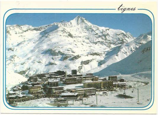 Carte postale de Tignes, en Savoie.