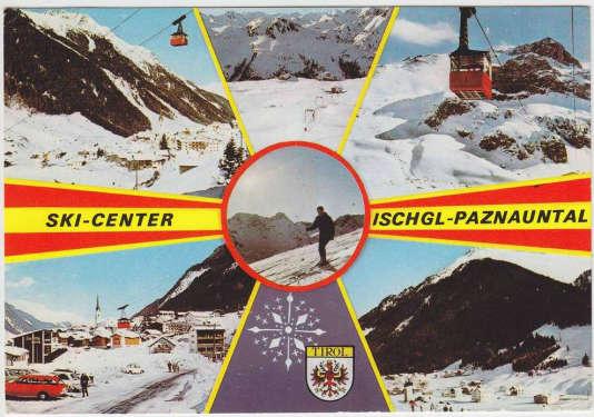 Carte postale d'Ischgl, en Autriche.