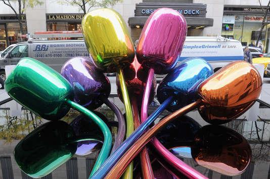 La sculpture de Jeff Koons, le 6 novembre 2012 à New York City.