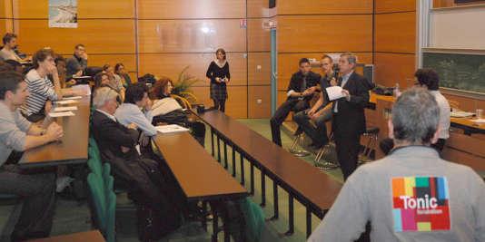 Conférence de Skema sur l'entrepreneuriat à l'Ecole centrale de Lille, le 9 novembre.