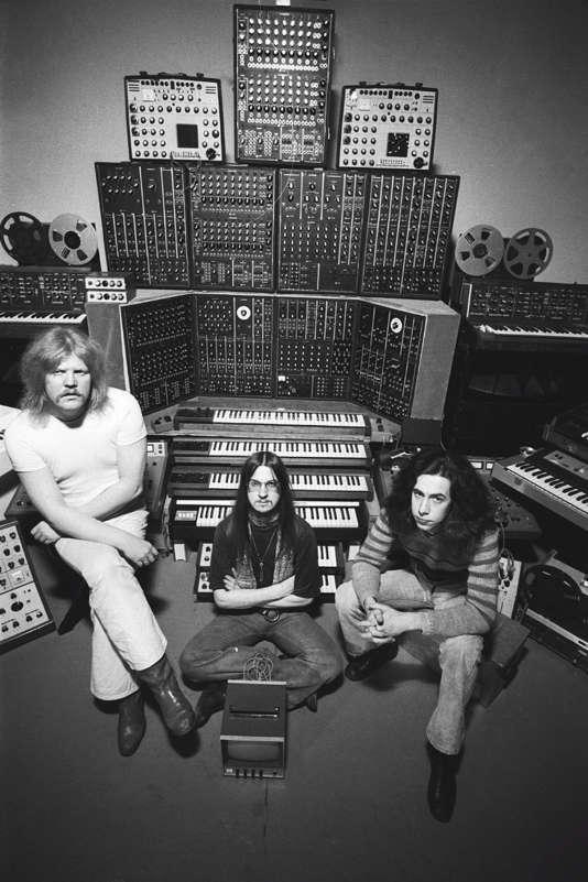 Edgar Froese, Christopher Franke et Michael Hoenig en 1975