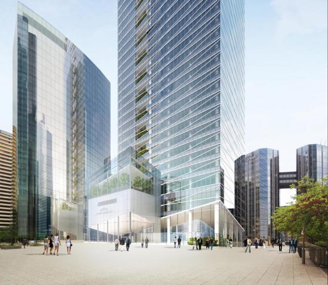 Le projet de la tour Saint-Gobain à la Défense.