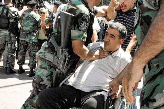 Depuis 1989, Ghazi Aad se battait pour les victimes de la guerre du Liban. Ici, en 2008, lors d'une manifestation exigeant la libération des prisonniers en Syrie.