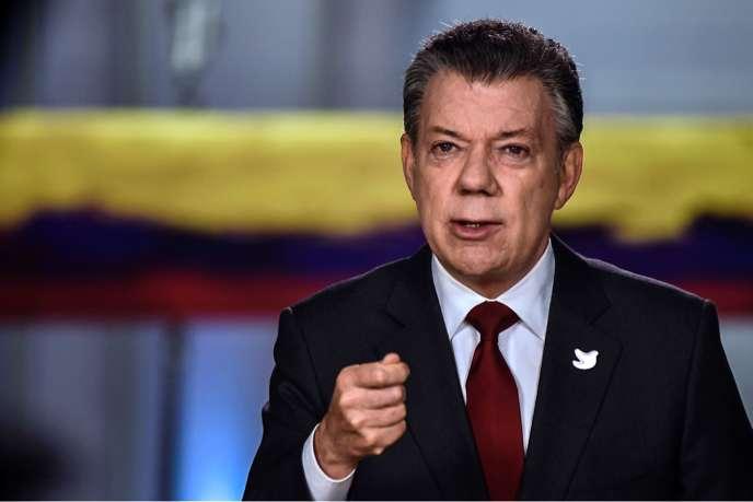 Le président Juan Manuel Santos, qui a obtenu le prix Nobel de la paix, a annoncé la date de la signature de l'accord, mardi 22 novembre.