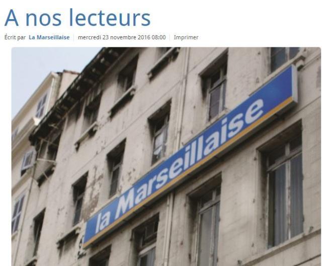 «La Marseillaise» est le dernier journal français né pendant l'Occupation à continuer de paraître.