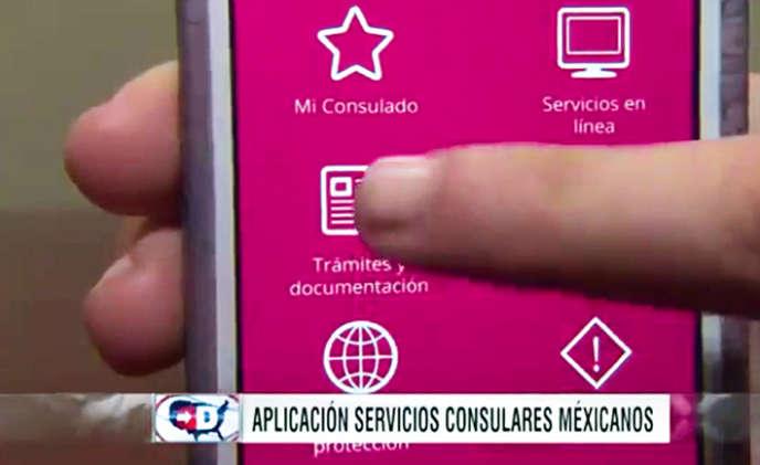 MiConsulmex, l'appli mise au point par le gouvernement mexicain pour aider ses ressortissants vivant aux États-Unis.