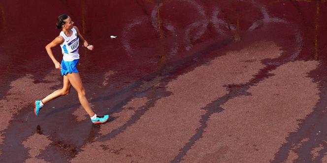 La marcheuse Olga Kaniskina aux Jeux de Londres en 2012.