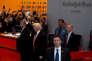 Donald Trump, à sa sortie des bureaux du «New York Times», le 22 novembre.