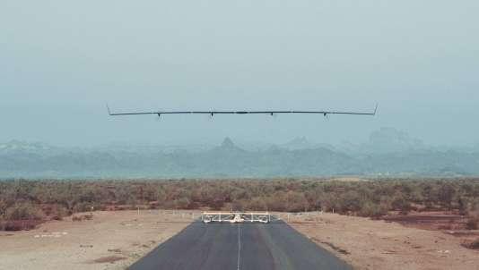 Le drone Aquila au décollage.