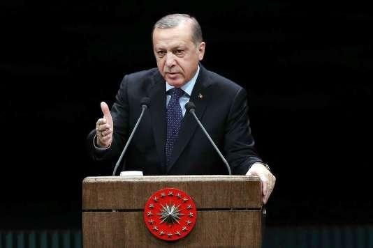Le président Recep Tayyip Erdogan, lors d'un discours à Ankara, le 24novembre.