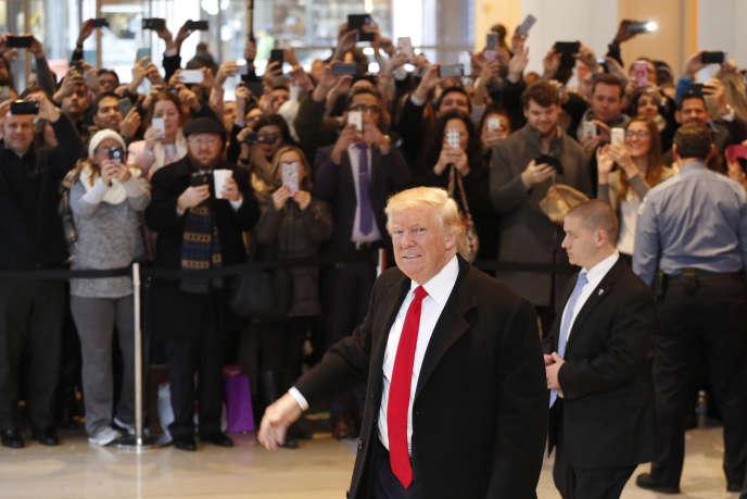 Donald Trump lors de son arrivée au «New York Times», à New York le 22 novembre.