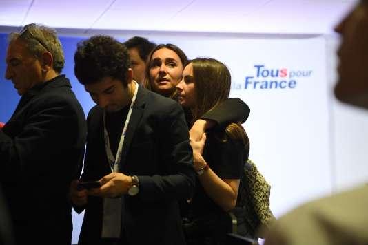Après le discours de Nicolas Sarkozy, au siège de sa campagne, le 20 novembre.