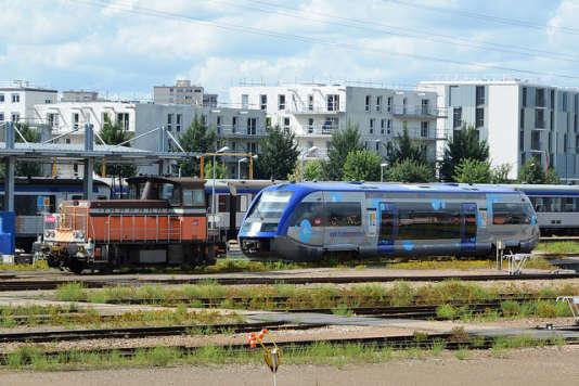 A la gare de Sotteville-lès-Rouen (Seine-Maritime), en 2014.
