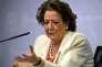 Rita Barbera,lors d'une conférence de presse à Valence le 25 février.
