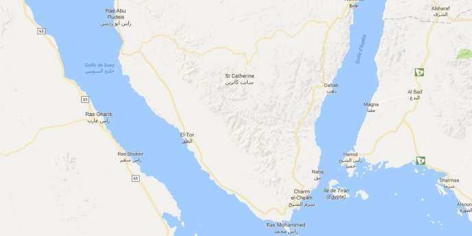 La péninsule du Sinaï.