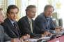 François Fillon, alors premier ministre, Antoine Gosset-Grainville et Hervé Novelli, à Matignon, en avril 2010.