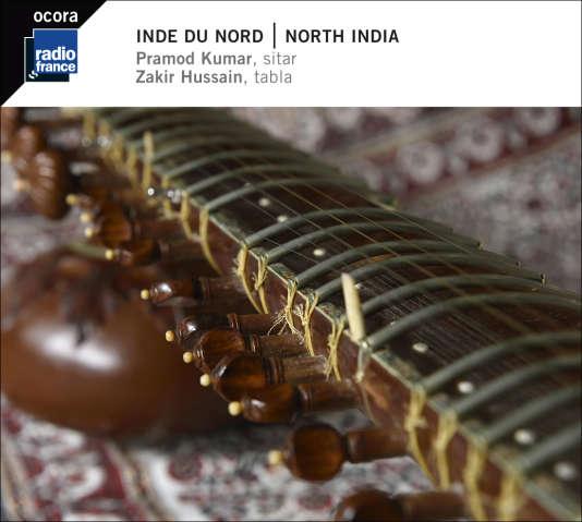 Pochette de l'album «Inde du Nord: Raga Madhuvanti – Raga Kirwani», par Pramod Kumar et Zakir Hussain.