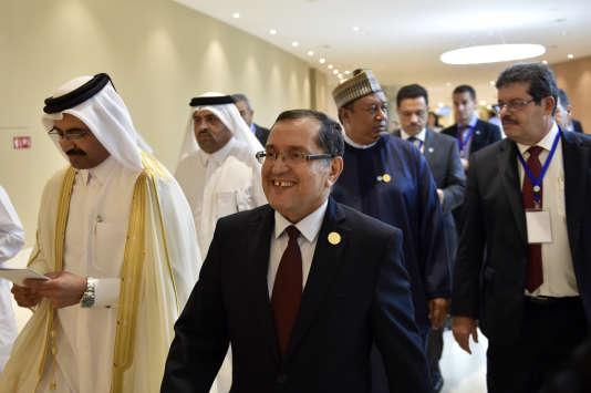 Noureddine Boutarfa, le ministre algérien de l'énergie, au premier plan lors d'une réunion de l'Opep à Alger, en septembre.