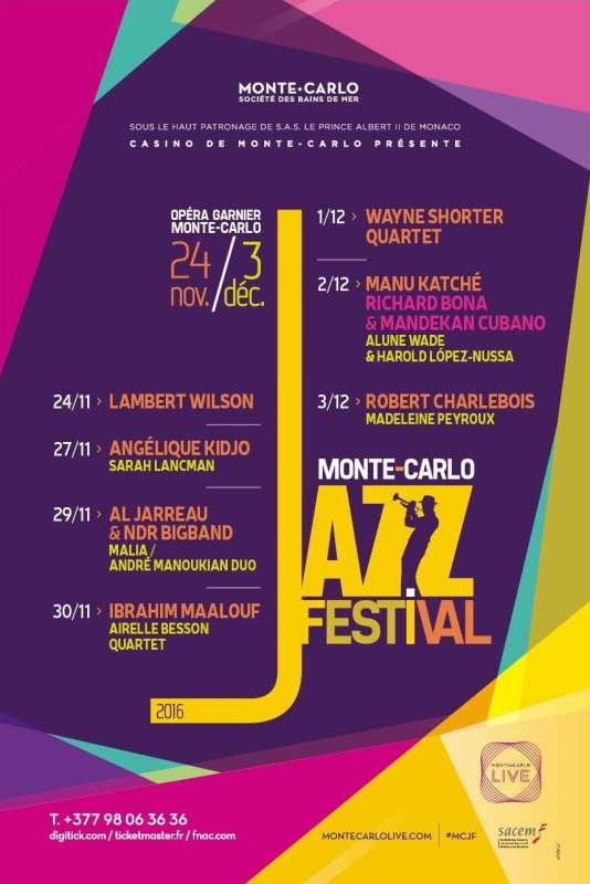Affiche du Monte-Carlo Jazz Festival.