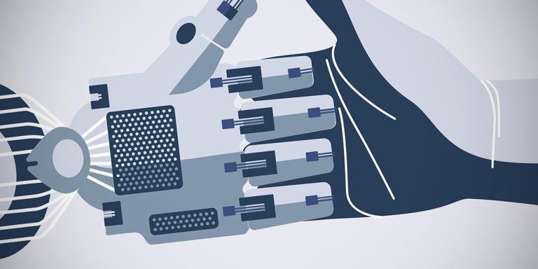 Les mains des robots progressent.