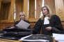 Janine Bonaggiunta et Nathalie Tomasini, avocates de Jacqueline Sauvage, le 21 mars.