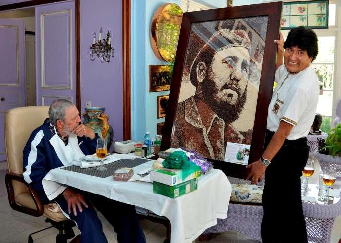 Fidel Castro et le président bolivien Evo Morales en août 2015.