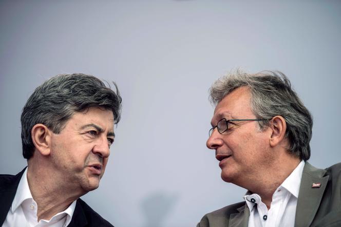 Jean-Luc Mélenchon et Pierre Laurent, en août 2012.